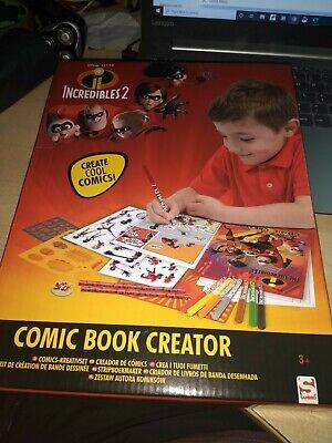 Disney Pixar Incredibles 2 Comic Book Creator Make Your Own