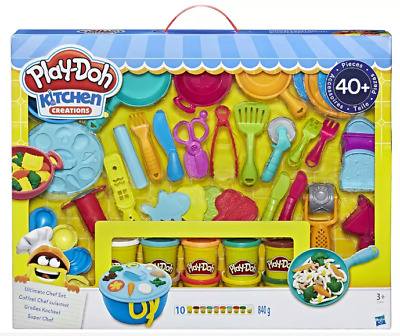 Kids Gift Play-Doh Kitchen Creations Ultimate Chef Set 10