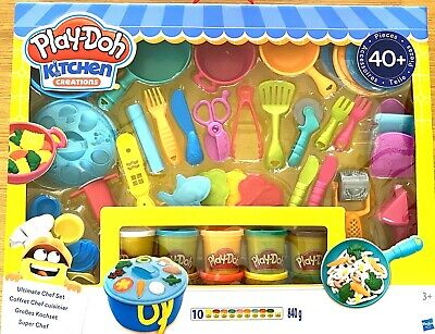 Play-Doh Dough Kitchen Creations Ultimate Chef Set 10 tubs