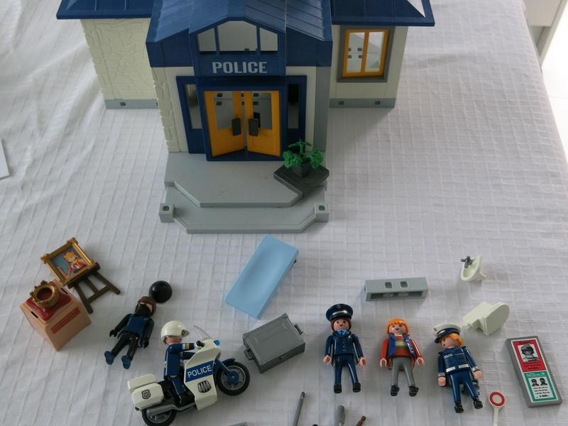 Playmobil Police Sation , Police Motor Bike  ++