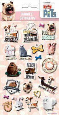 The Secret Life of Pets 3D Bubble Stickers Fun Childrens