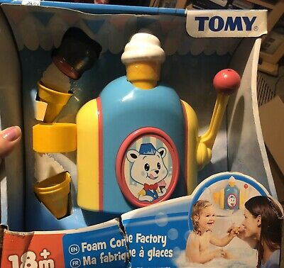 Tomy Bath Foam Pretend Ice Cream Cone Factory Preschool BNIB