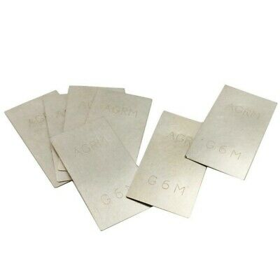 5Pcs Silver Solder Plated Hard Square Sheet Jewelry