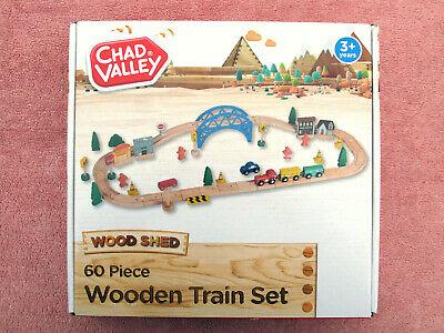 CHAD VALLEY  PIECE WOODEN TRAIN SET - EXCELLENT