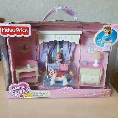 Fisher Price Loving Family New Additions Bed Time Brand New