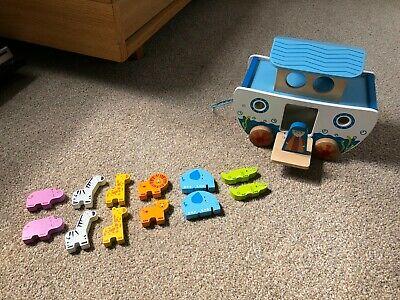 Hape Pull Along Noah's Ark Childrens Wooden Toy