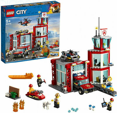 LEGO  City Fire Station Garage Building Set with Truck