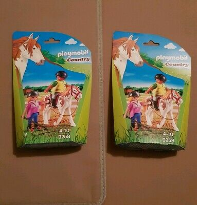 New Sealed x2 Playmobil Country  Riding Instructor Horse