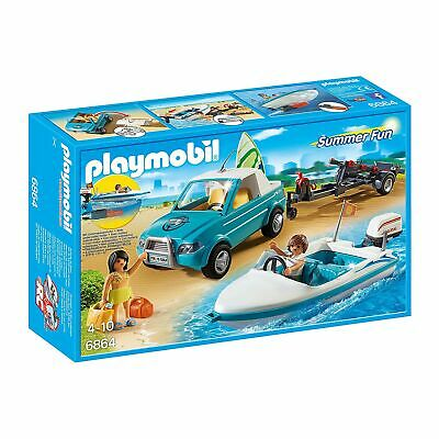 Playmobil  Summer Fun Surfer Pickup with Speedboat with