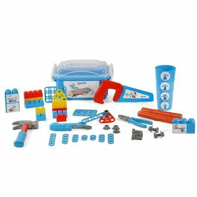 Polesie Smurfs Official 48 Piece Children Toy Tool Set Blue