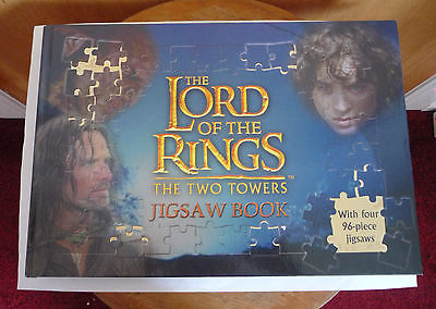 THE LORD OF THE RINGS - THE TWO TOWERS JIGSAW BOOK - 4 X 96