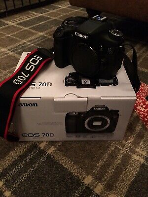 Canon EOS 70D 20.2MP Digital SLR Camera Black with mm