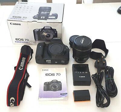 Canon EOS 7D 18.0MP Digital SLR Camera Black + EF-S IS USM