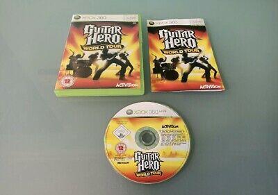 GUITAR HERO WORLD TOUR XBOX 360 COMPLETE GOOD CONDITION