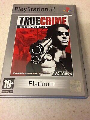 PS2 - True Crime Streets of LA PLATINUM WITH MANUAL