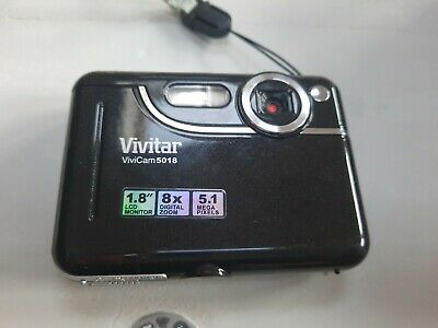 Vivitar ViviCam  MP Digital Camera Black, case.