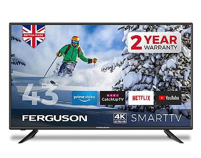 FERGUSON 43 INCH 4K ULTRA HD LED SMART TV WITH WIFI, 3 X