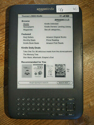 "Amazon Kindle Keyboard Drd Generation) 4GB 6"" Wi-Fi"