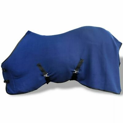 Horse Fleece Rug with Surcingles Blue 115 cm Riding Wear