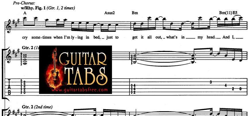 Guitar Tabs, Scales, Lyrics, Chords, Sheet Music & Song