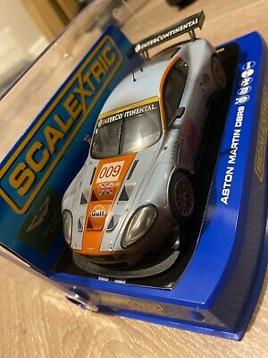 SCALEXTRIC C ASTON AMRTIN DBR GULF BNIB CLUB CAR