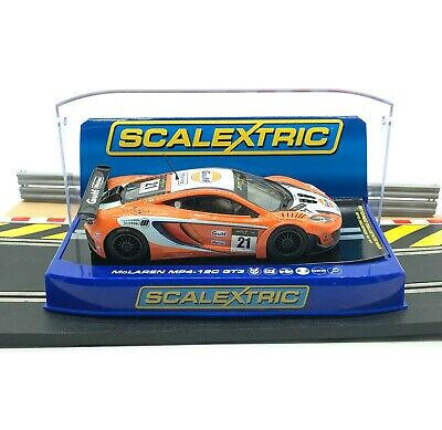 Scalextric Digital McLaren MP4-12C GT3 Gulf No21 C Used