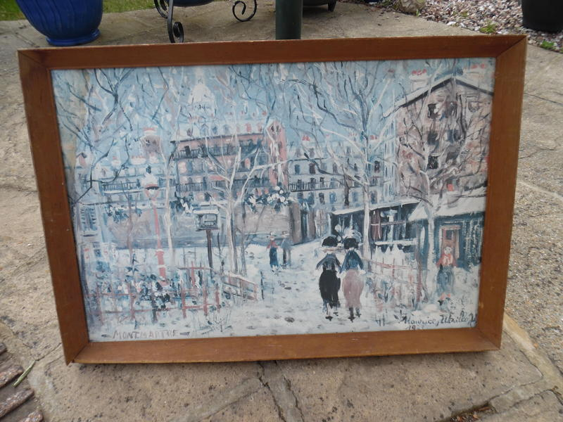 Framed Picture - Montmatre by Maurice Whiteo
