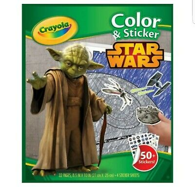 CRAYOLA STAR WARS COLOUR AND STICKER 32 PAGE COLOURING BOOK