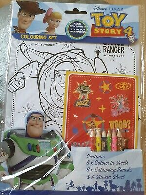 Disney Pixar Toy Story 4 Colouring Activity Set inc Pencils