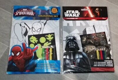 Twin Pack Marvel Ultimate Spiderman + Star Wars Activity