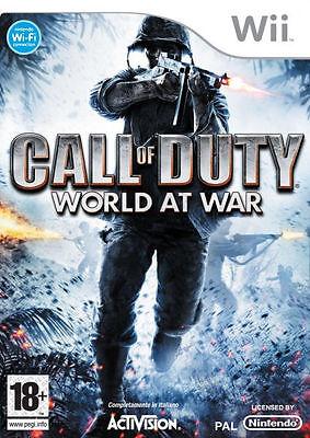 Call of Duty: World at War (Nintendo Wii, ) - European