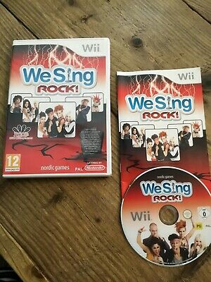 we sing rock wii- Boxed Complete V Good