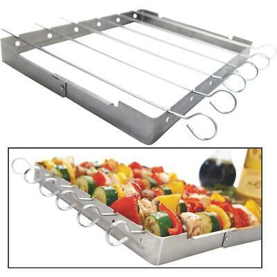 GrillPro Stainless Steel Kebab Grill Rack with Skewers