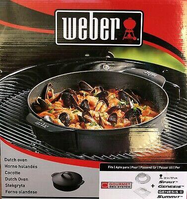 Pot Weber Cocotte Gourmet BBQ System Dutch Oven