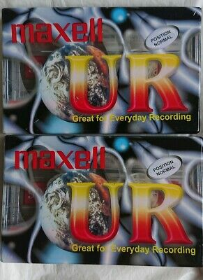 2 x Maxell UR Minute Blank Audio Cassette Tape BRAND