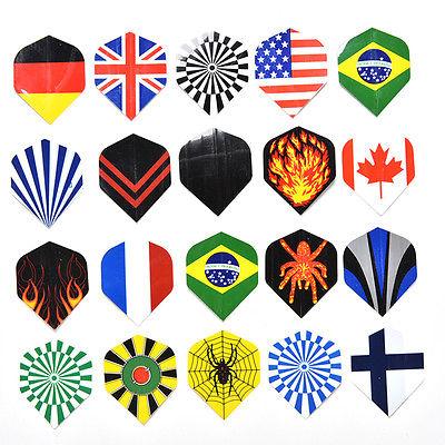 20 Sets 60 Pcs Dart Flights Mixed Type Colored Darts New