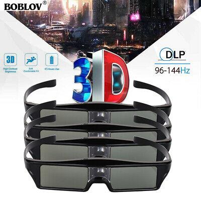 4pcs DLP-Link 3D Active Shutter Glasses Rechargeable