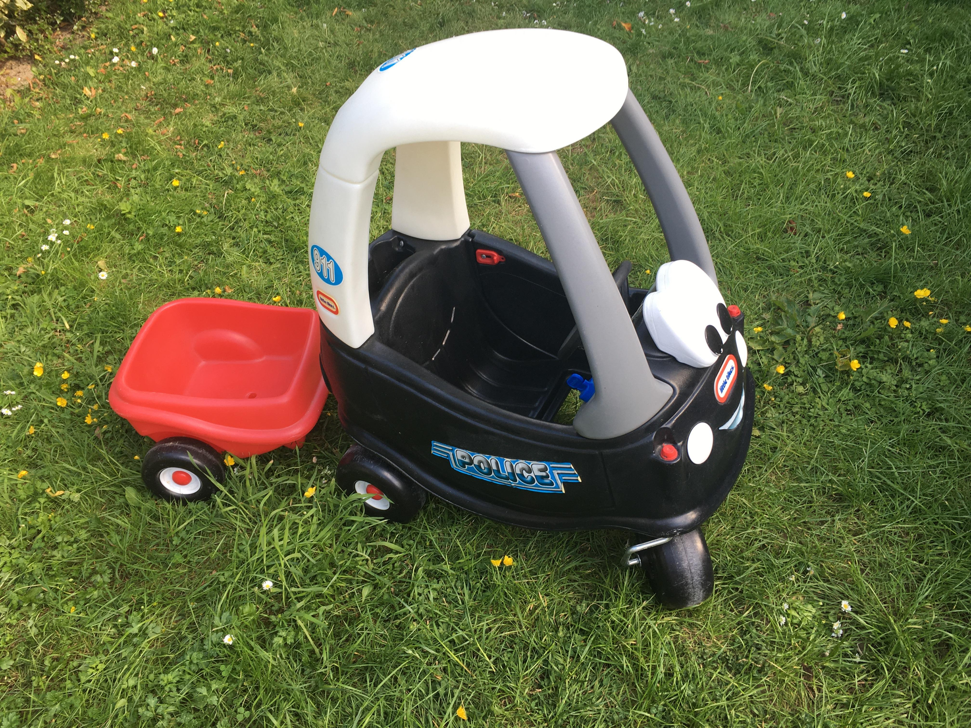 Little Tikes police car and trailer
