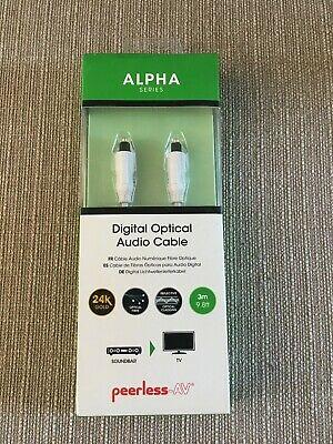 Peerless-AV Alpha Series Digital Optical Audio Cable 3m