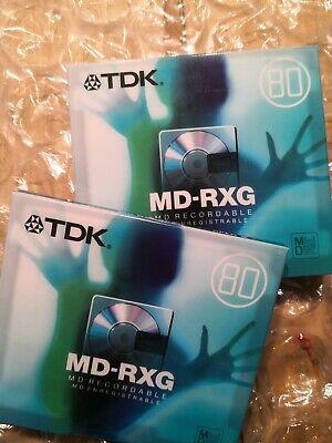 Twin pack BRAND NEW & SEALED TDK MD-RXG 80 MINI DISC
