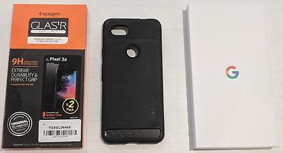 Google Pixel 3a - 64GB - Just Black (Unlocked) incl Cover &