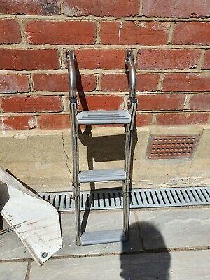 3 Step Stainless Steel Folding Ladder Boat Boarding 330x860