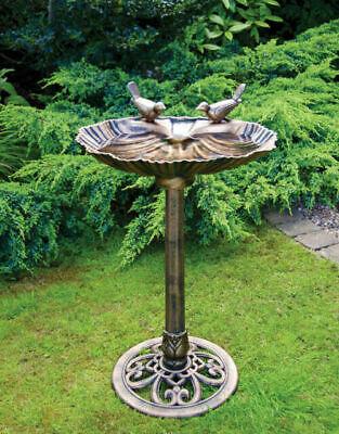 Pewter Effect Decorative Bird Bath - Water Resistant