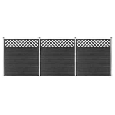 vidaXL WPC Fence Set 3 Square 526x185 Grey Privacy Patio