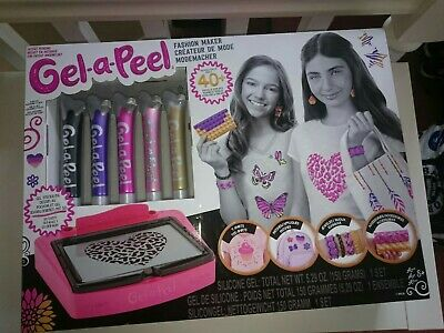 BNIB GIRLS GEL-A-PEEL DELUXE FASHION MAKER KIT - BRAND NEW &