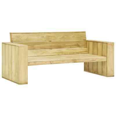 vidaXL Garden Bench Impregnated Pinewood Outdoor Furniture