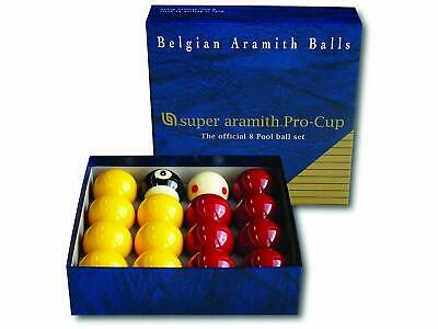 Aramith Pro Cup Pool Ball Set 2 Inch - Red and Yellow