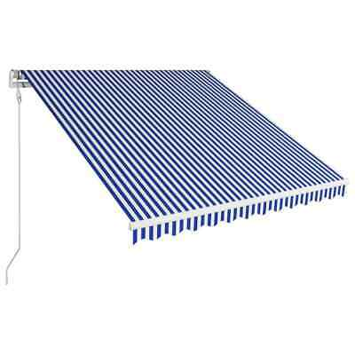 vidaXL Automatic Retractable Awning 350x250cm Blue and White