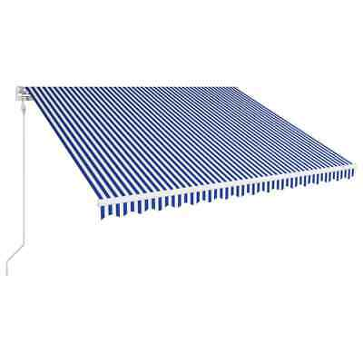 vidaXL Automatic Retractable Awning 450x300cm Blue and White