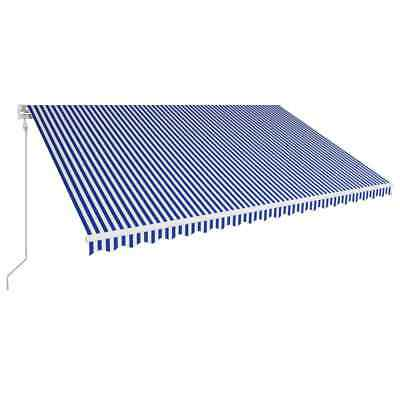vidaXL Automatic Retractable Awning 500x300cm Blue and White